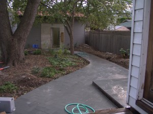 new backyard slate walk