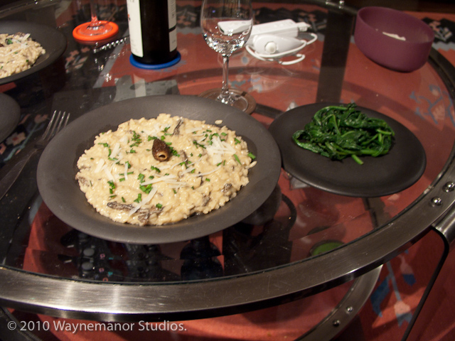 Picture of morel mushroom risotto